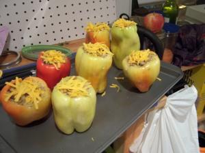 Mashed-potato-stuffed peppers